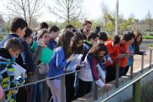 Grupo 1B del IES Parque Lineal de Albacete en el Jardín Botánico de Castilla-La Mancha (10/04/2015