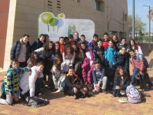 Grupo 1B del IES Parque Lineal de Albacete en el Jardín Botánico de Castilla-La Mancha (10/04/2015)