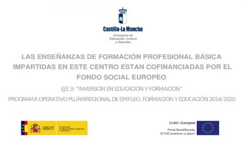 Enseñanzas FPB cofinanciaciadas por el Fondo Social Europeo